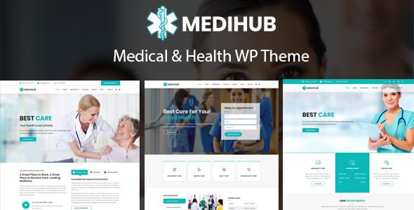 Wordpress Immobilien Template MediHub - Medical & Health WordPress Theme