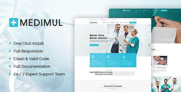 Wordpress Immobilien Template Medimul - Multi-Purpose Medical Health WordPress Theme