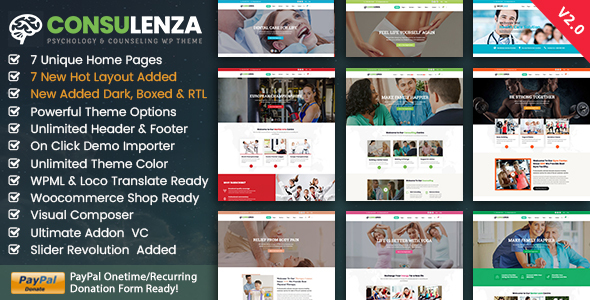 Wordpress Immobilien Template Medical Counseling