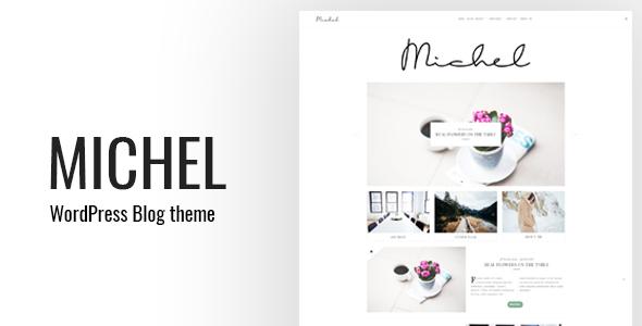 Wordpress Blog Template Michel - Clean WordPress Blog Theme