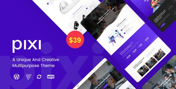 Wordpress Kreativ Template Pixi - Creative Multi-Purpose WordPress Theme