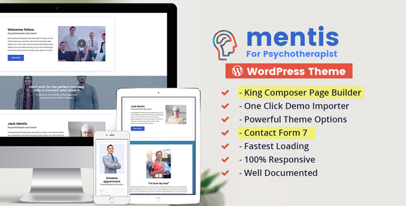 Wordpress Immobilien Template Psychologist- WordPress Theme Mentis for Therapists, Psychiatrists & Life coaches