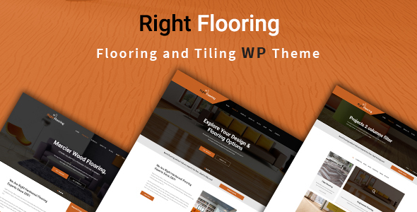 Wordpress Immobilien Template Right Flooring - Paving and Tiling Services WordPress Theme