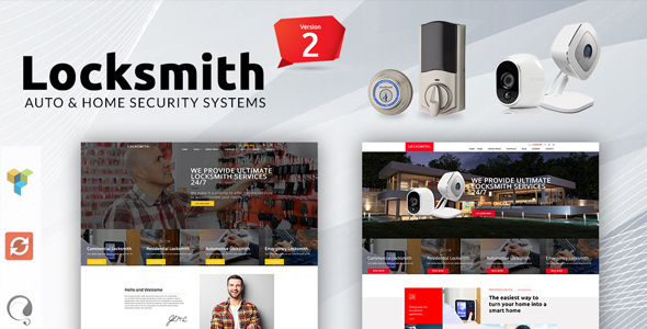 Wordpress Immobilien Template Locksmith - Security Systems WordPress Theme