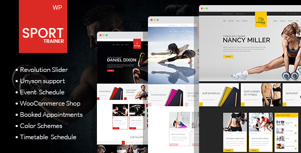 Wordpress Immobilien Template Sport Trainer - Boxing, Yoga and Crossfit WordPress Theme