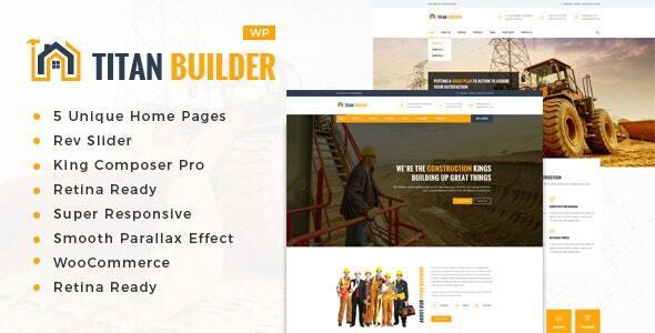 Wordpress Immobilien Template Titan Builders : Construction WordPress Theme
