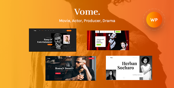 Wordpress Entertainment Template Vome - Multipurpose Film Maker WordPress Theme