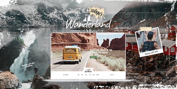 Wordpress Blog Template Wanderland - Travel Blog