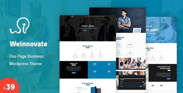 Wordpress Corporate Template Weinnovate - One page Business WordPress Theme