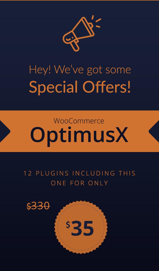 WooCommerce OptimusX Angebot
