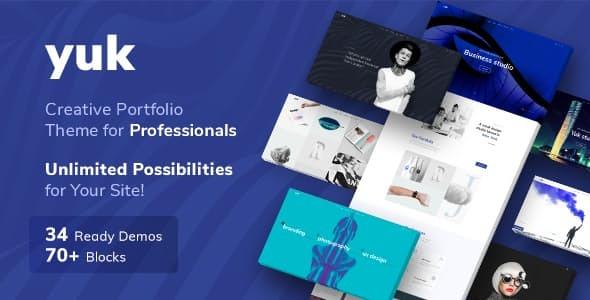 Wordpress Kreativ Template YUK - Portfolio WordPress