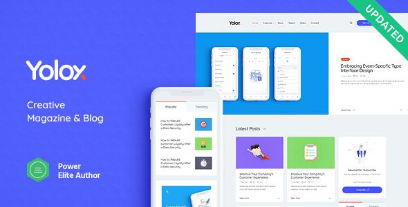 Wordpress Blog Template Yolox | Modern WordPress Blog Theme for Business & Startup