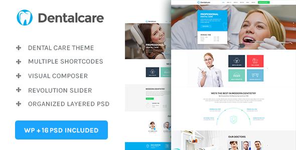 Wordpress Immobilien Template Dental Care : Medical - Dentist - Health WordPress Theme