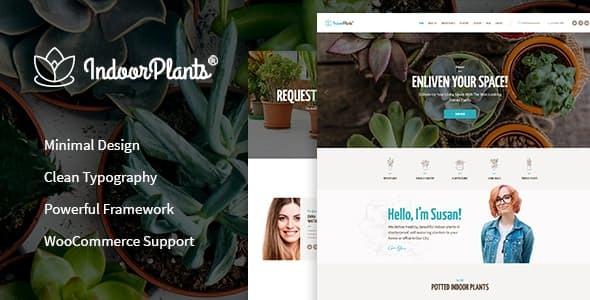 Wordpress Immobilien Template Indoor Plants   Houseplants store & Gardening WordPress Theme
