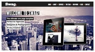 Swag - One Page Parallax WordPress Theme - 1