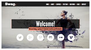 Swag - One Page Parallax WordPress Theme - 3
