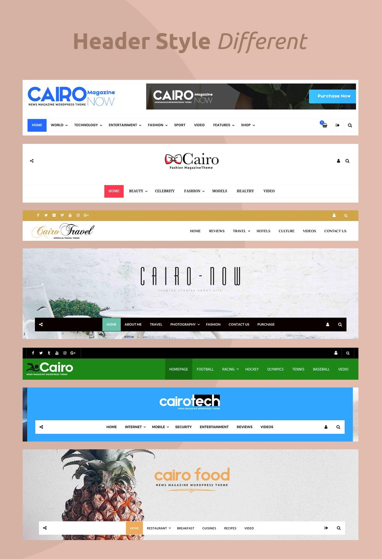 Kairo - Nachrichtenmagazin WordPress Theme
