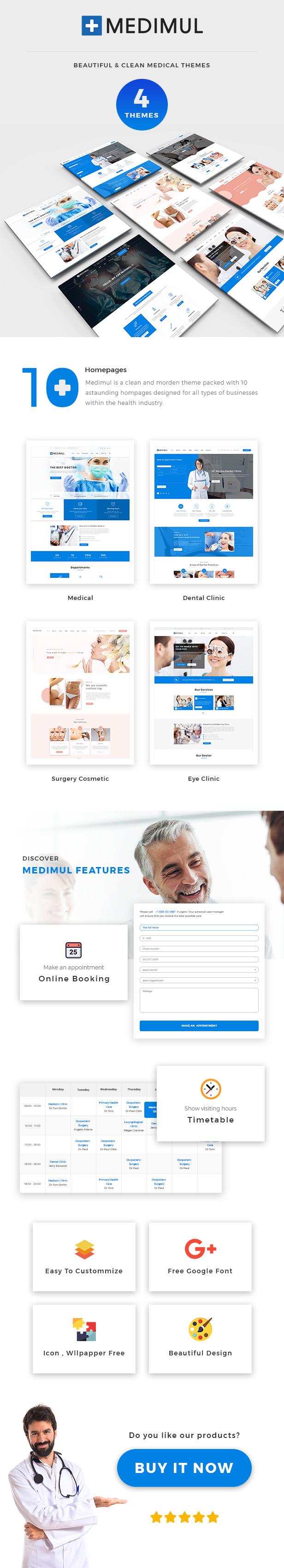 Medimul - Mehrzweck-WordPress-Theme für medizinische Gesundheit - 1