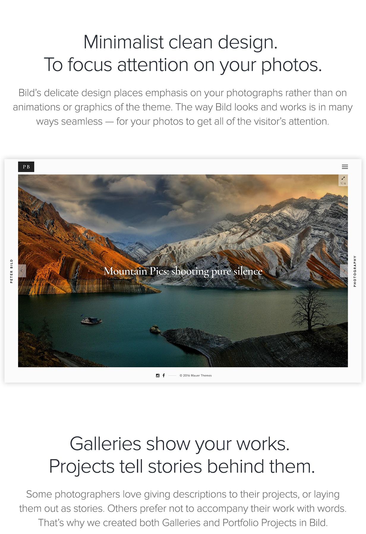 Bild - Ein fokussiertes WordPress-Fotografie-Thema - 1