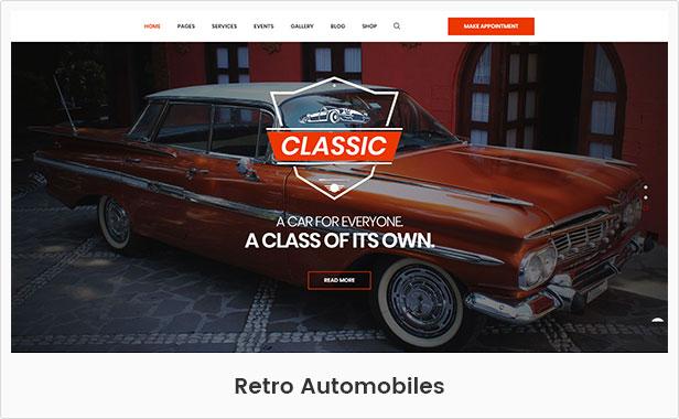 Retro Automobile WordPress-Thema