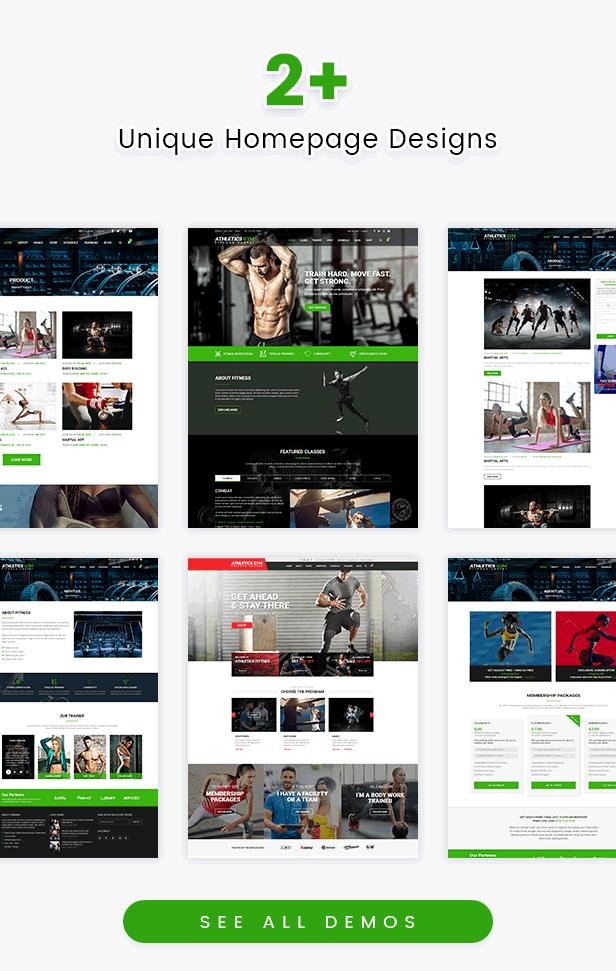 Athetics - Professionelles Fitnessstudio Fitness WordPress Theme