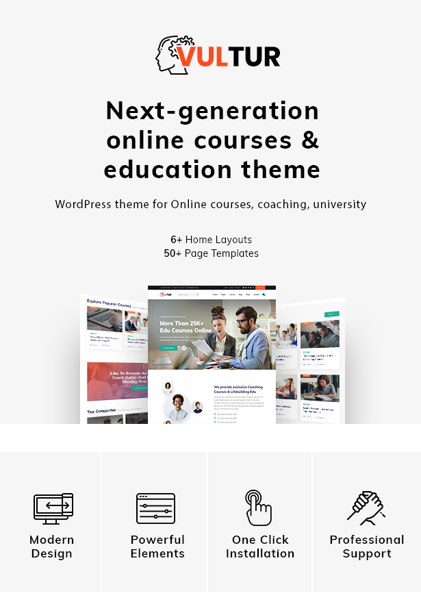 Vultur - LMS Education WordPress - 1