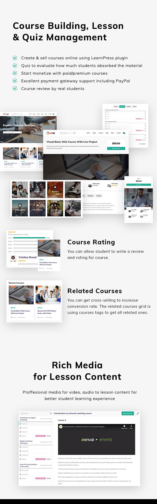 Vultur - LMS Education WordPress - 3