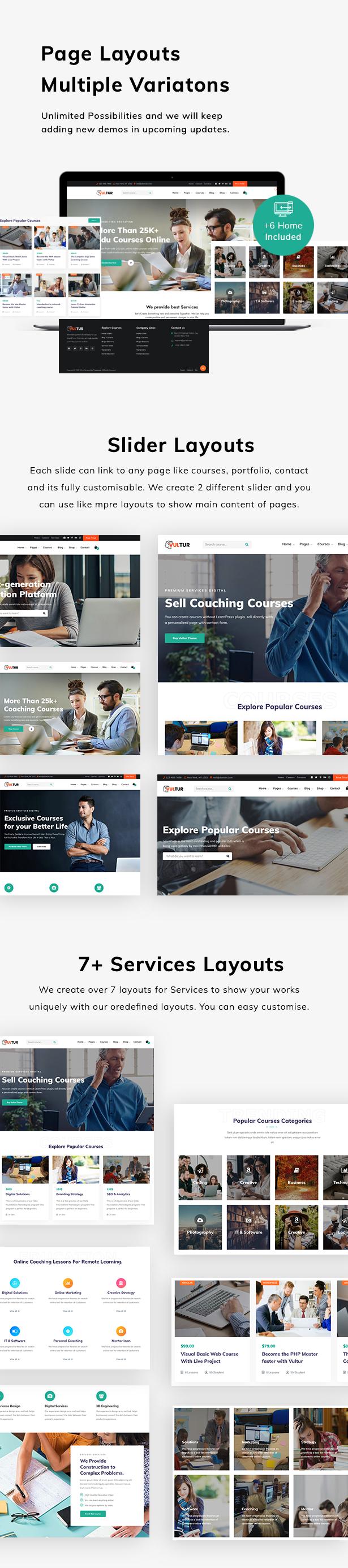 Vultur - LMS Education WordPress - 4