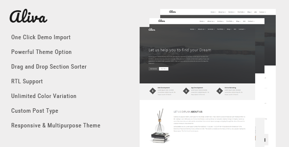 Wordpress Corporate Template Aliva - Multipurpose WordPress Theme