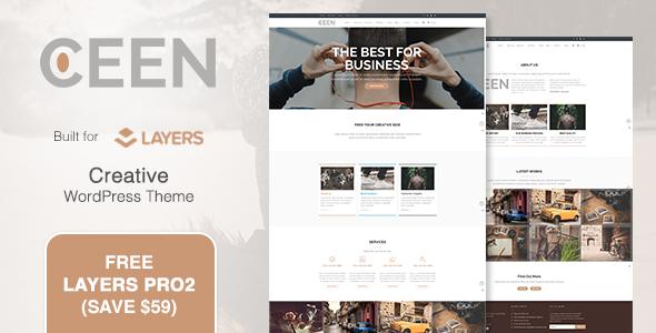 Wordpress Corporate Template Ceen   Business MultiPurpose WordPress Theme