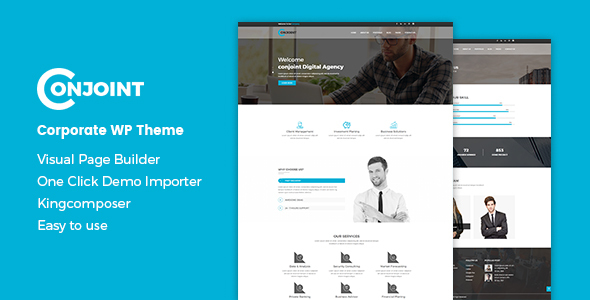 Wordpress Immobilien Template Conjoint - Corporate WordPress Theme