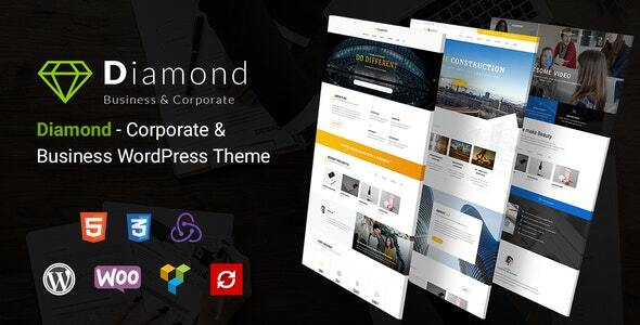 Wordpress Immobilien Template Diamond - Business & Corporate Responsive WordPress Theme