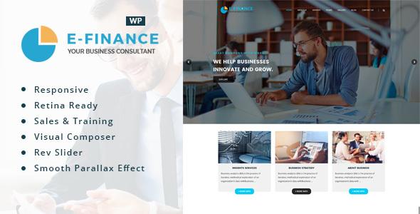 Wordpress Immobilien Template Efinance: Consultancy WordPress Theme
