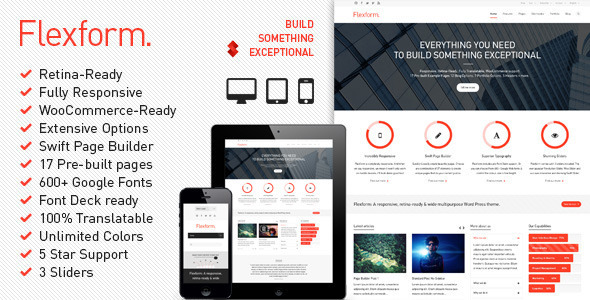 Wordpress Corporate Template Flexform - Retina Responsive Multi-Purpose Theme