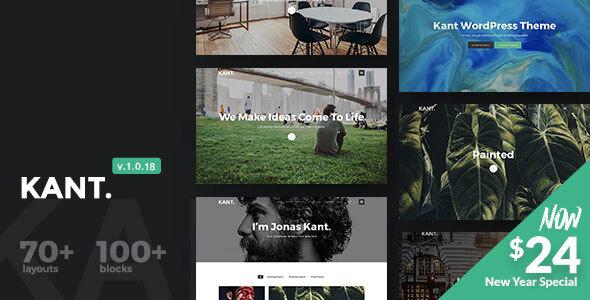 Wordpress Kreativ Template Kant - A Multipurpose WordPress Theme for Startups, Creatives and Freelancers
