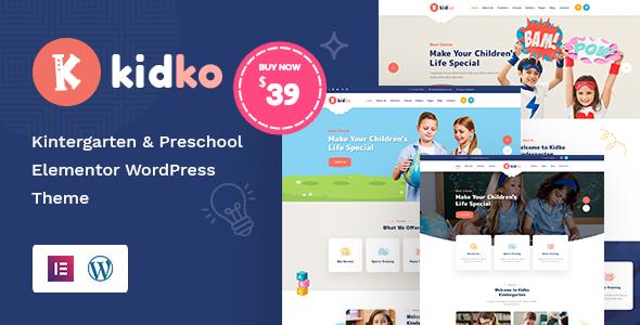Wordpress BILDUNG Template Kidko - Kindergarten & Baby Care WordPress Theme