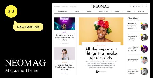 Wordpress Blog Template NeoMag - News and Magazine WordPress Theme
