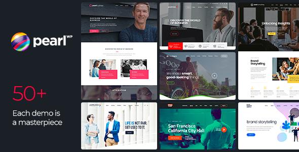 Wordpress Immobilien Template Pearl - Corporate Business WordPress Theme