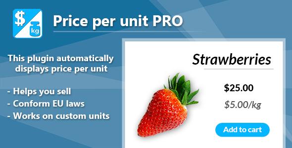 Wordpress E-Commerce Plugin Price per unit PRO