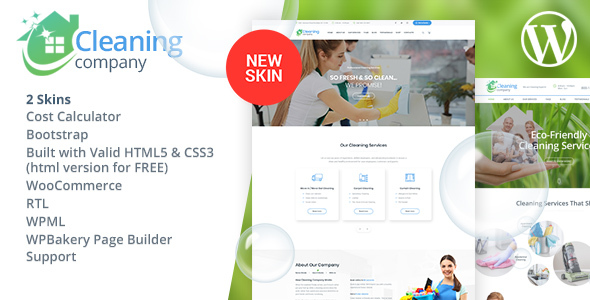 Wordpress Immobilien Template Cleaning Services WordPress Theme + RTL