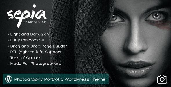 Wordpress Kreativ Template Sepia - Photography Portfolio WordPress Theme