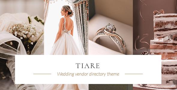 Wordpress Directory Template Tiare - Wedding Vendor Directory Theme