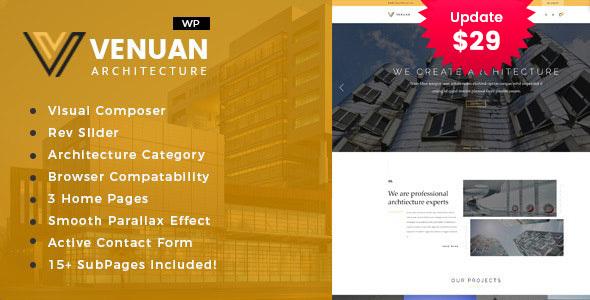 Wordpress Immobilien Template Venuan - Architecture Design WordPress Theme