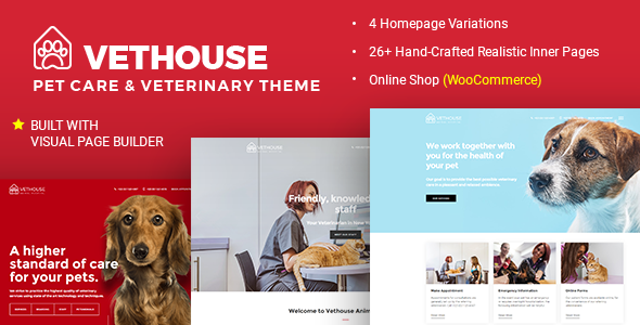 Wordpress Immobilien Template Vethouse - Pet Care & Veterinary Theme