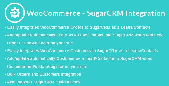 Wordpress E-Commerce Plugin WooCommerce - SugarCRM Integration