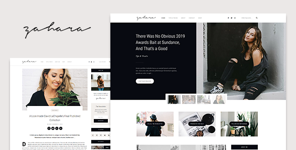 Wordpress Blog Template Zahara - A WordPress Blog & Shop Theme