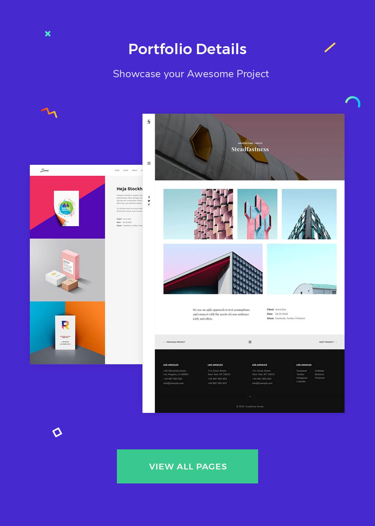 Viele Portfolio-Detailvarianten