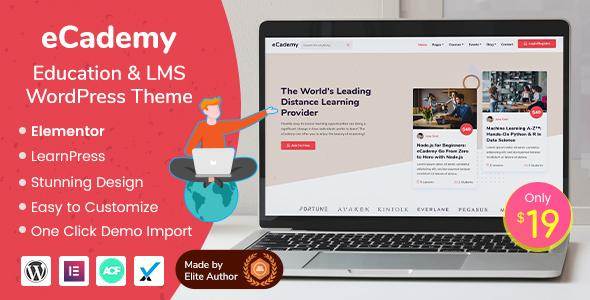 Wordpress BILDUNG Template eCademy - Education & LMS WordPress Theme