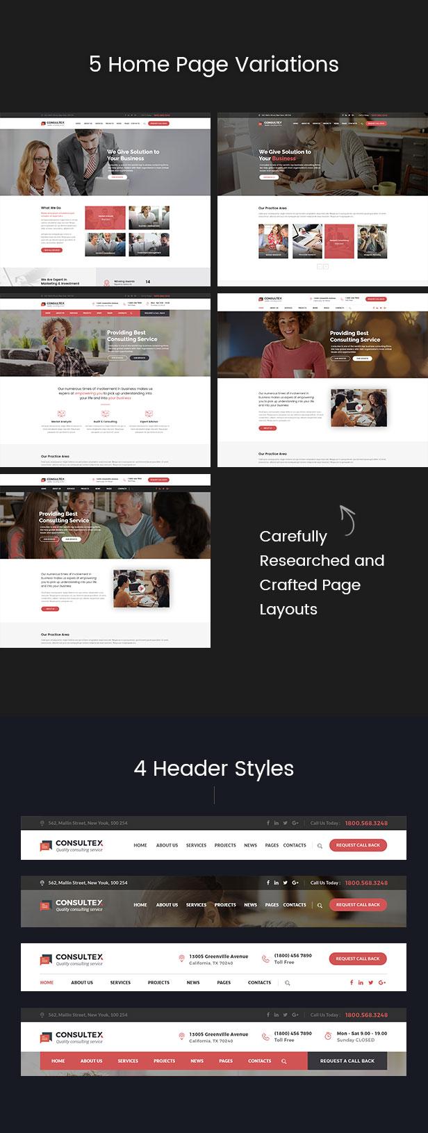 Consultex - Unternehmensberatung WordPress - 2