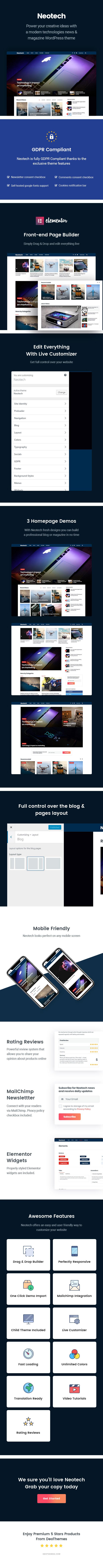 Neotech   Magazin Elementor WordPress Theme